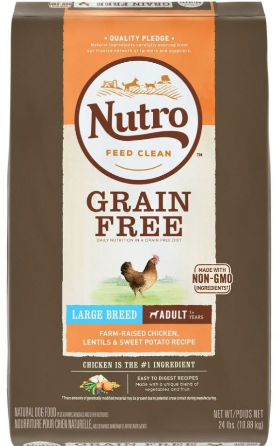 Nutro Grain-Free Large Breed Adult Chicken, Lentil and Sweet Potato Dry Dog Food