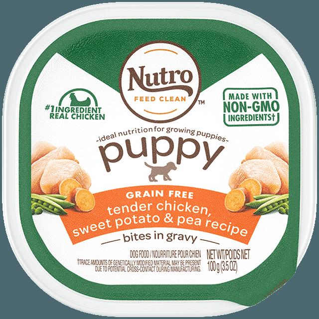 Nutro Puppy Tender Chicken & Rice Recipe Cuts In Gravy Dog Food Trays