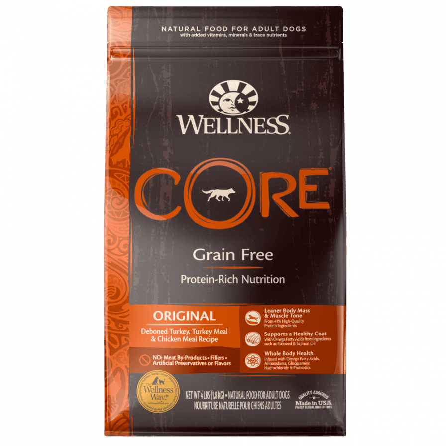 Wellness Core Natural Grain Free Original Turkey and Chicken Recipe Dry Dog Food