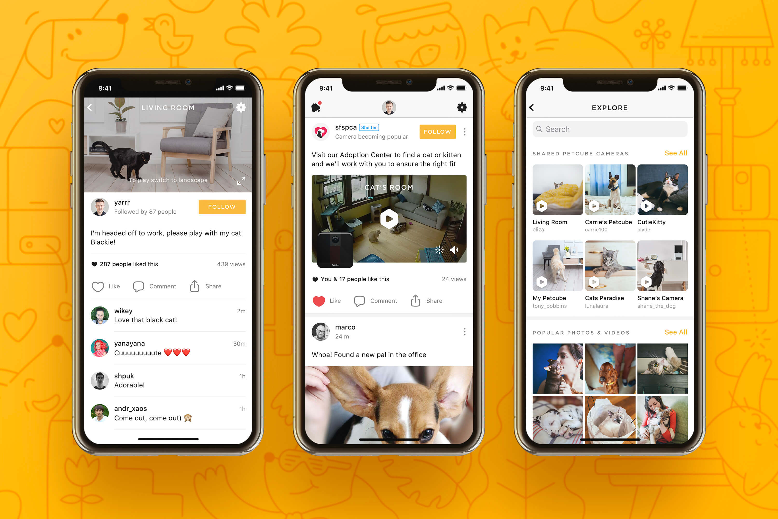 Petcube App 4.0 screenshots